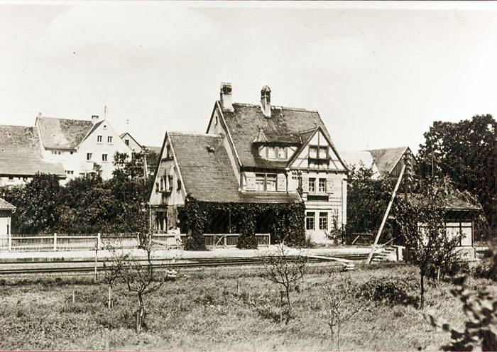 Empfangsgebäude in Schillingsfürst