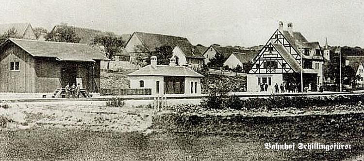 Bhf Schillingsfürst - alte Ansicht