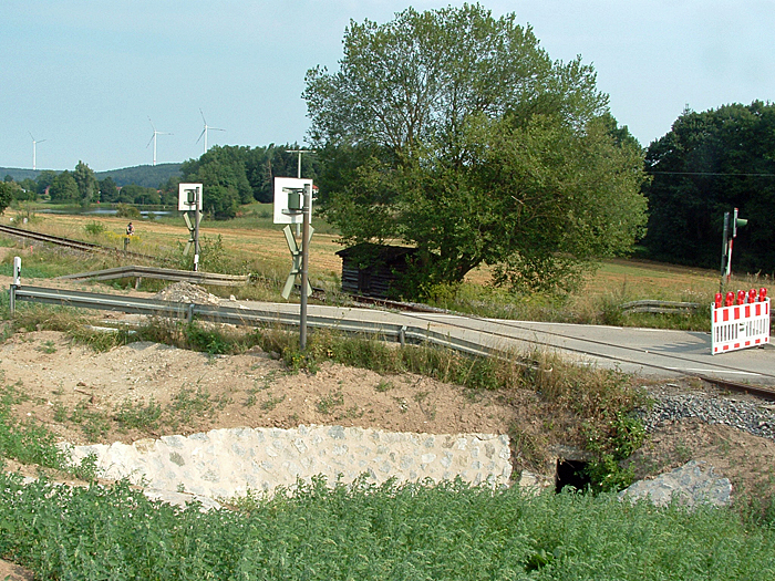 BÜ B 25 Wilburgstetten August 2018