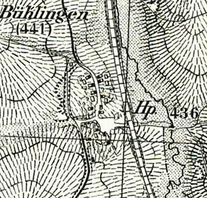 Karte Haltepunkt Bühlingen