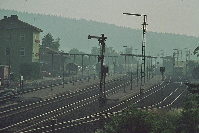 Blick vom Stw auf die Gleisanlagen 1982