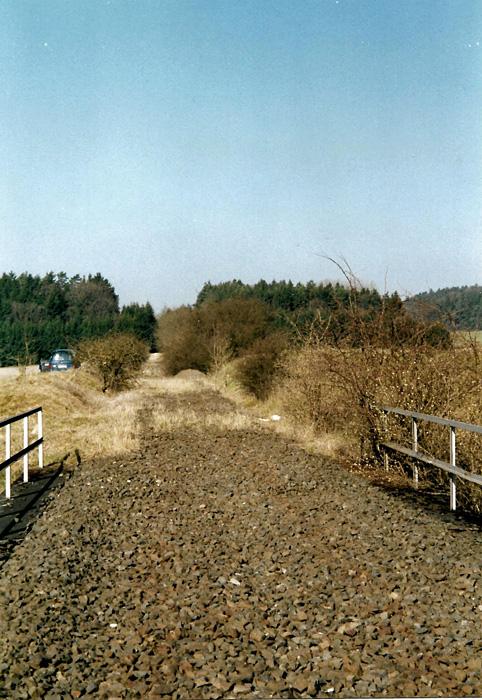 Ausfahrgleis Dombüh Richtung Rothenburg 2003