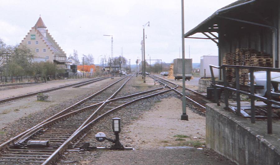 Südliche Gleisanlagen 1989