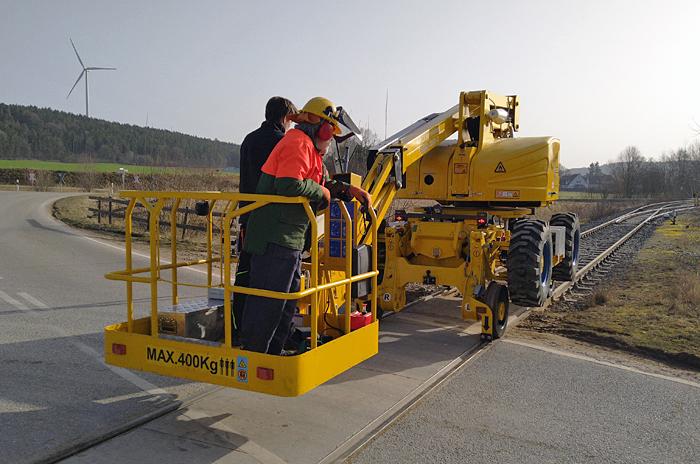 Eingleisung Hubbühne Wilburgstetten 25.2.21