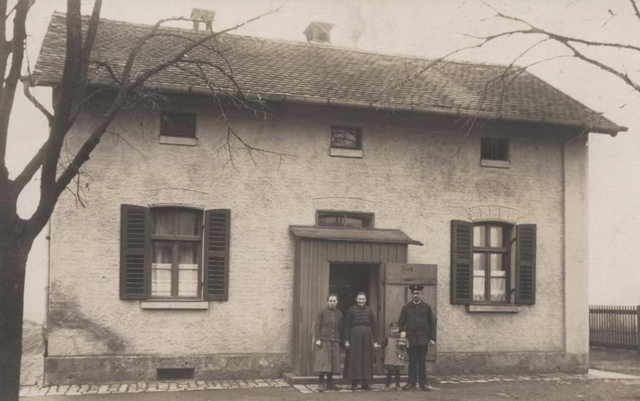 Bahnwärterhaus Schopfloch um 1924/25