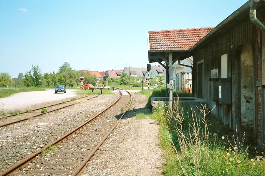 Gebsattel 1985 ehemaliges Bahnhofsgebäude