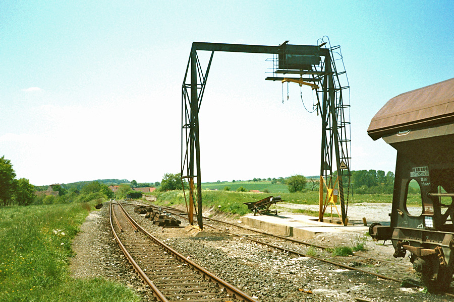 Gebsattel 1985 Streckenende