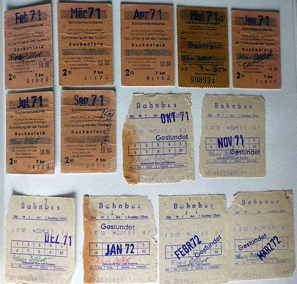 Fahrkarten 1971