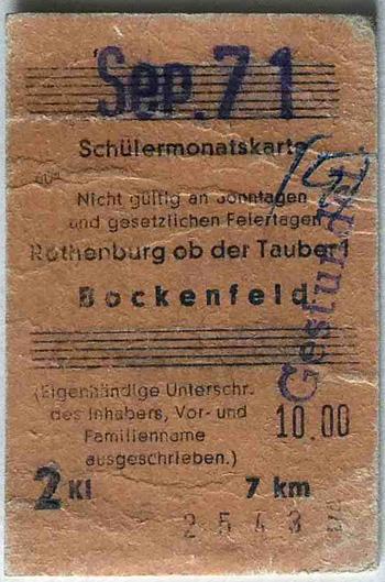 Letzte Fahrkarte 1971