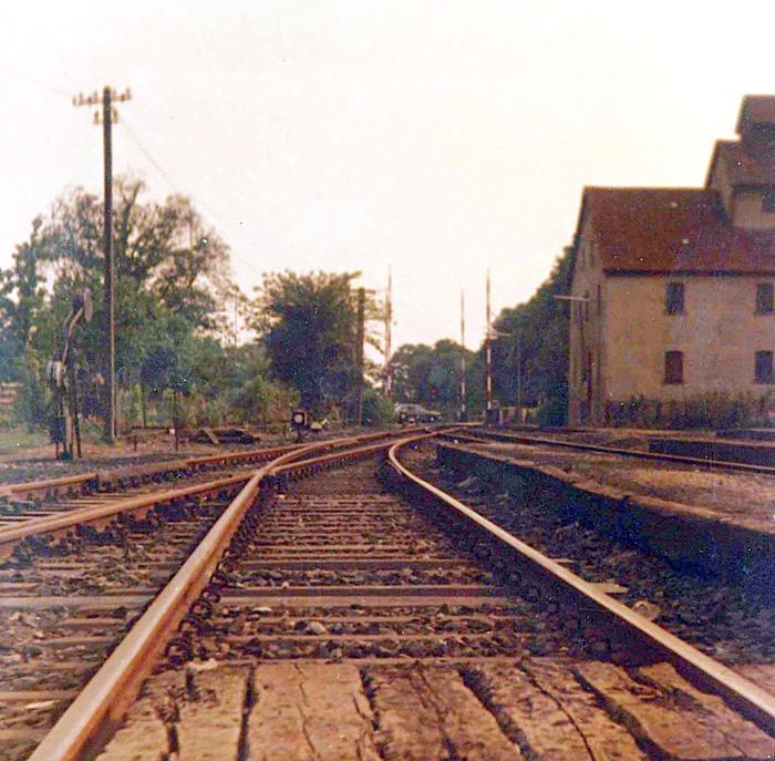 Bhf Rothenburg 1976 - südwestliche Ausfahrt