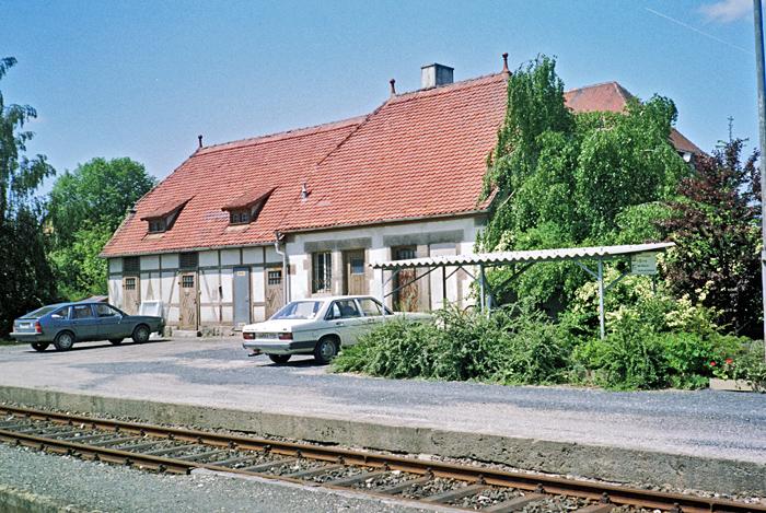 Bhf Rothenburg 1985 Nebengebäude mit WC