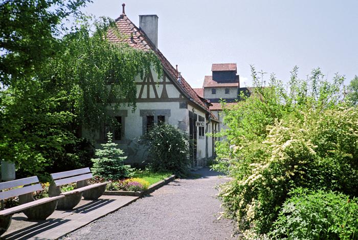 Bhf Rothenburg 1985 Nebenebäude mit WC