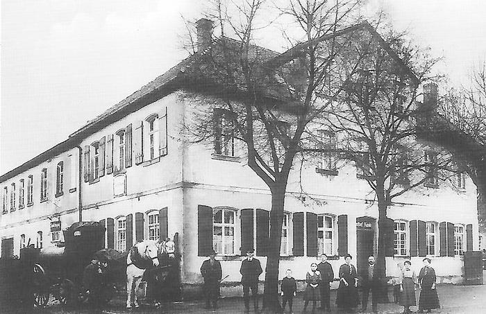Bahnofsrestauration Gasthof Knab um 1910