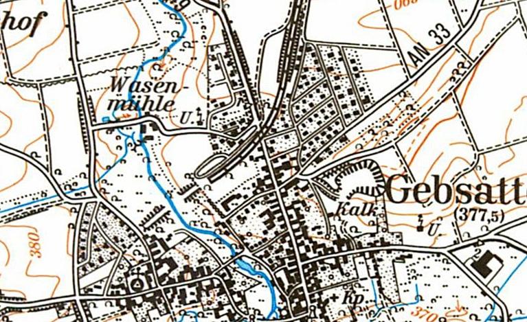 Gebsattel 1985 Karte