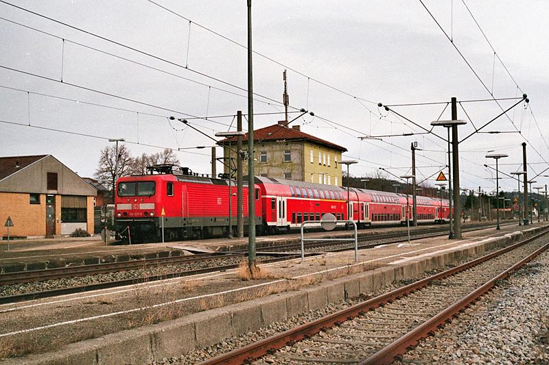 Doppelstockzug RE 19911 Dombühl 3.3.2017