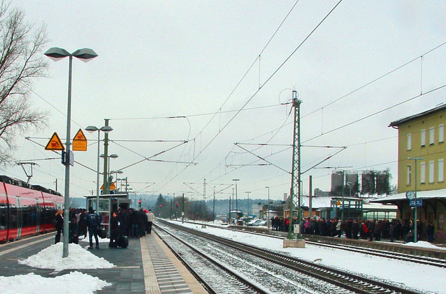 Bahnhof  Dombühl am 18,12,2017