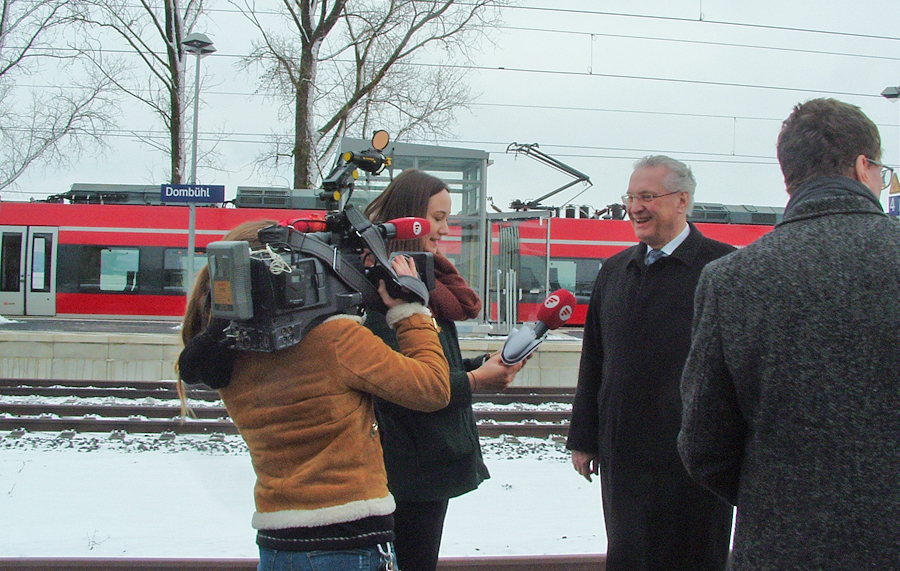 Innenminister Herrmann anlässlich S-Bahn-Einweihung