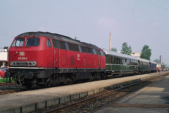 Sonderzug am 14. Mai 1985 Abschiedsfahrt CR-Wilb