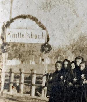 Einweihung Haltestelle Knittelsbach 1912