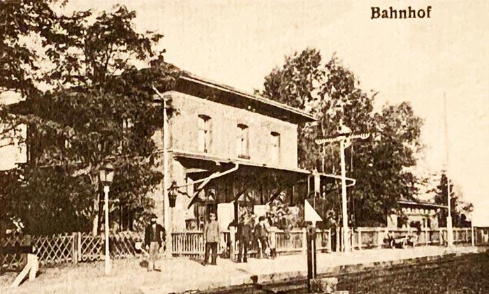 Bahnhof Wilburgstetten vor 1900