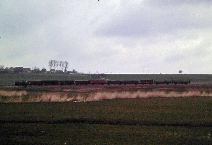 Güterzug April 87 bei Lehengütingen