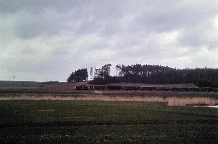 Güterzug April 87 bei der Froschmühle
