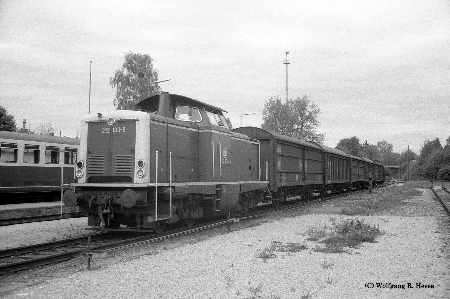 Übergabe-Güterzug Dinkelsbühl 13.5.1983