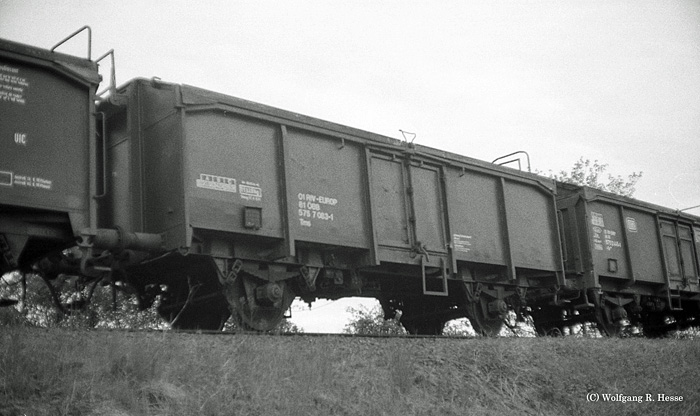 Ausfahrgleis Dombühl- abgestellte 1983