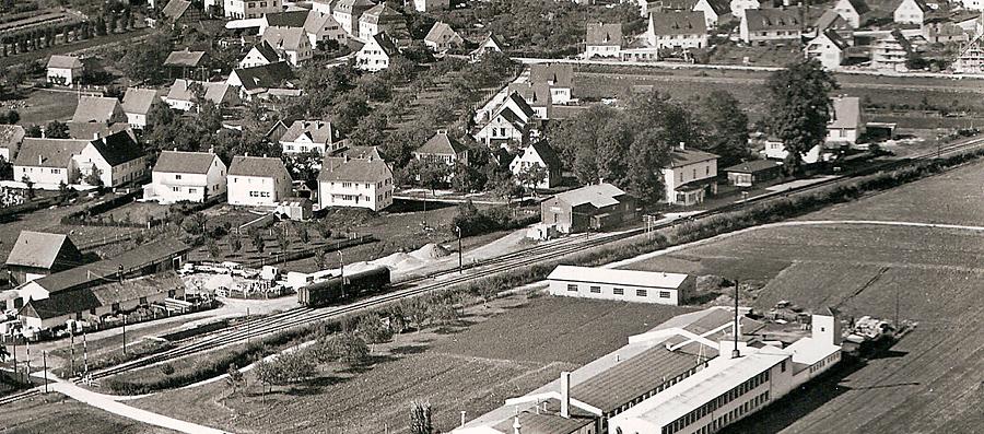 Luftbild Wallerstein 1961