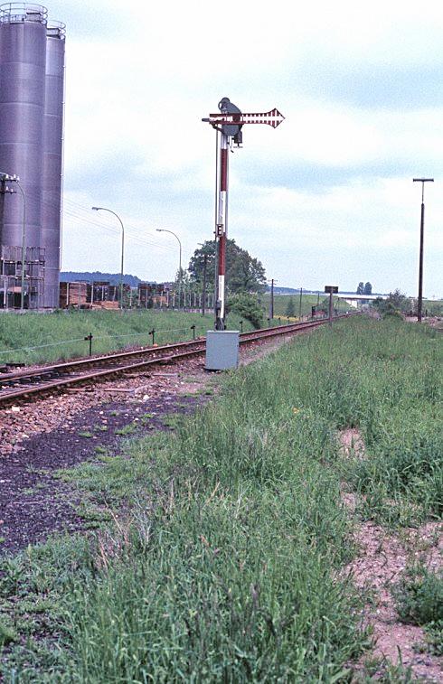 Ausfahrsignal in Feuchtwangen Richtung Dombühl 1984
