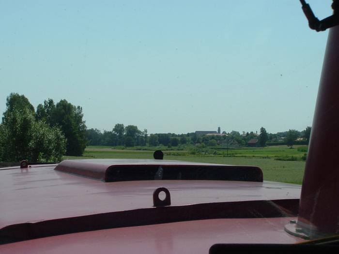 Blick aus der V100 1365 km33,0 am 24.7.12 auf Dinkelsbühl