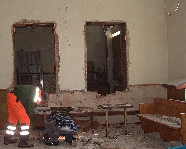 Abbau der Ablagetische 15.12.2012