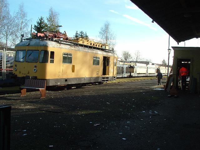 Turmtriebwagen für Abtransport am 29.12.2012