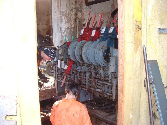Ausbauversuch des Hebelstellwerks am 29.12.2012
