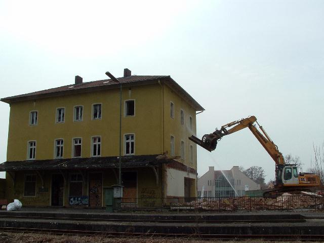 Beginn des Abrisses Hauptgebäude