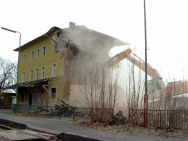Abriss Hauptgebäude
