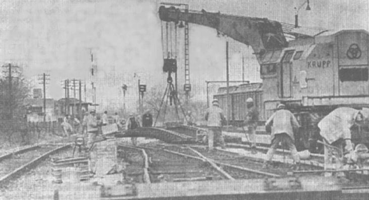 Abbau von Gleis 3