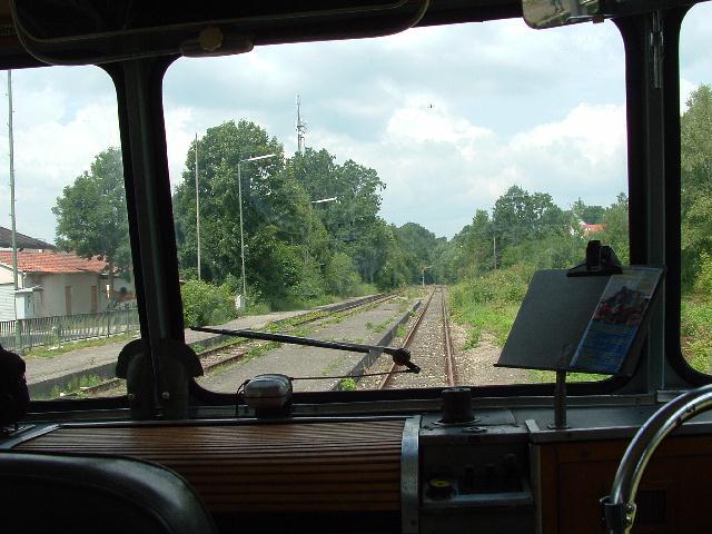 VT 98 BayernBahn auf Gleis 2 in Dinkelsbühl am 27.7.2008