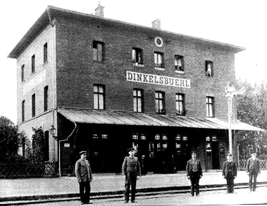 Bahnhof Dinkelsbühl um 1900