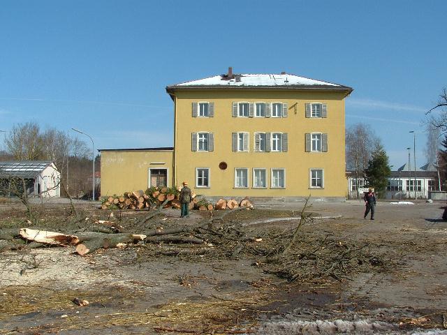 Abgeholzter Bahnhofsvorplatz März 2013