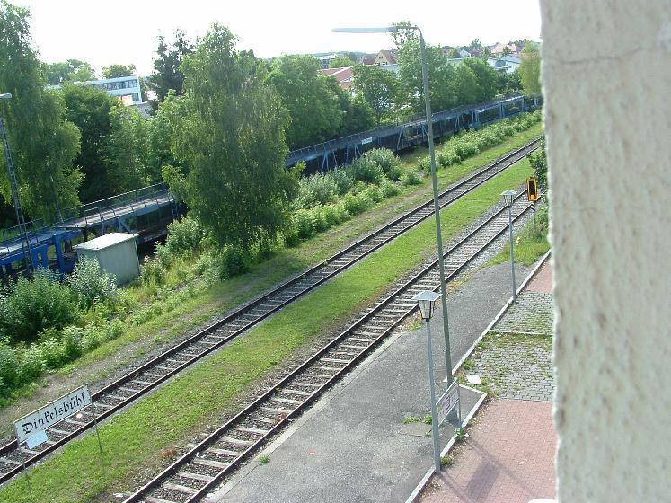 Blick auf die Gleisanlagen Juli 2012
