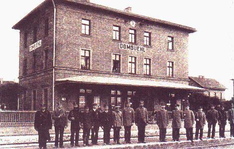 Bahnhof Dombühl um 1900