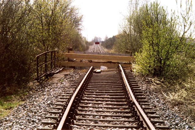 Beschädigte Brücke 2003 bei Brikhausen