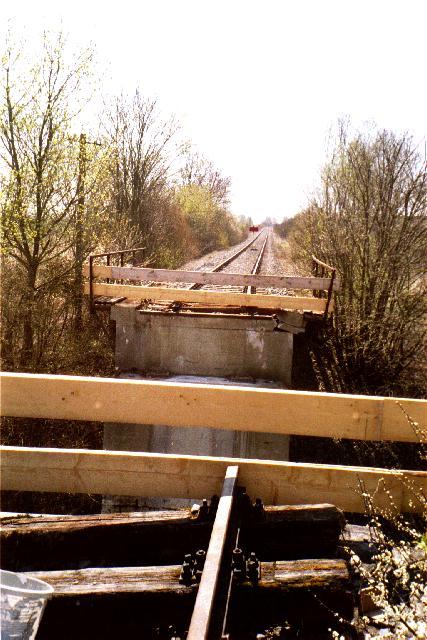 Beschädigte Brücke 2003 bei Birkhausen