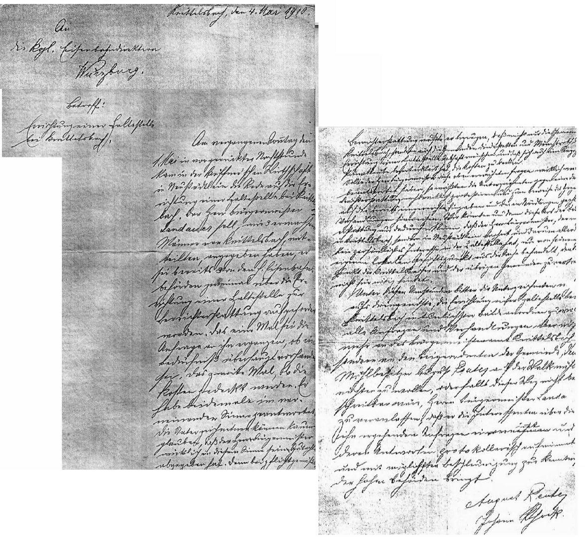 Brief von 1910