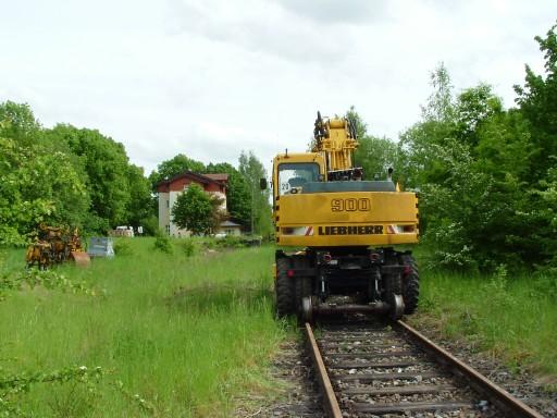 Zwei-Wege-Bagger Schopfloch Mai 2006