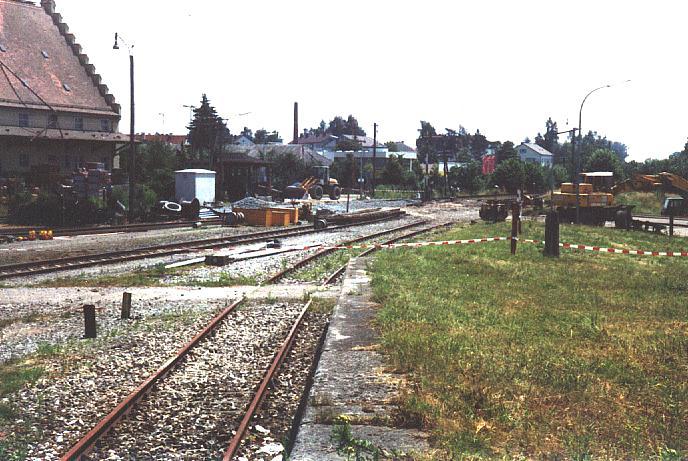 Verladerampe an der Bundesstraße 25 in Dinkelsbühl 1994