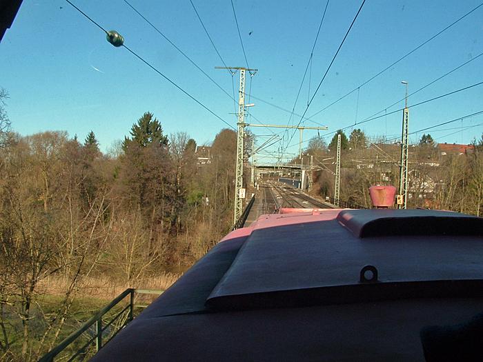 Auf der Jagstbrücke Crailsheim 13.1.2015