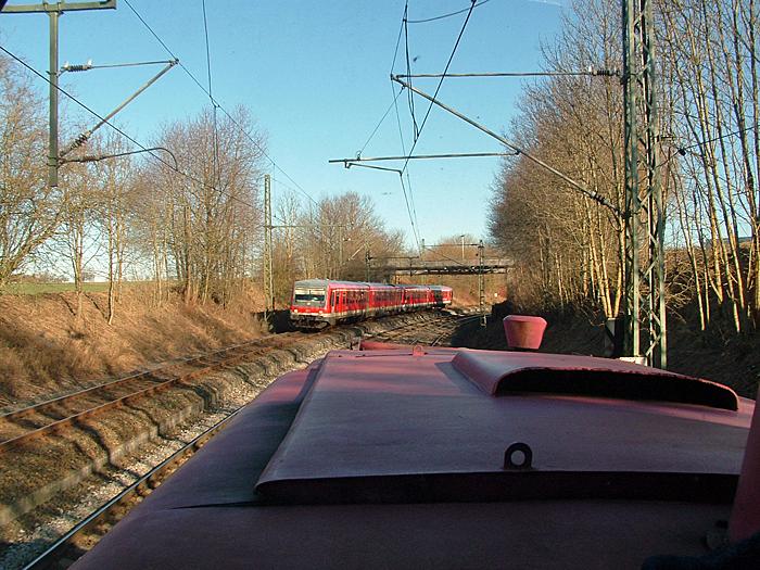 Einfahrt von zwei  628er aus Lauda nach Crailsheim 13.1.2015