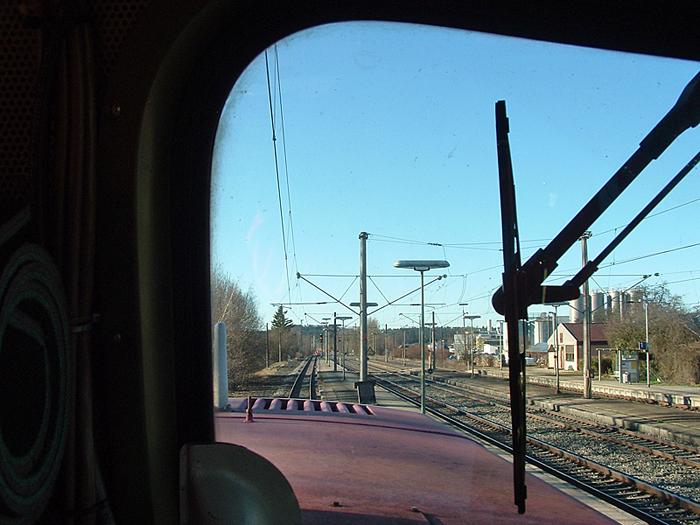 Durchfahrt Dombühl 13.1.2015